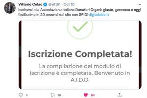 tweet ministro colao